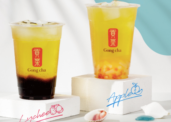 bubble fruit tea from gongcha