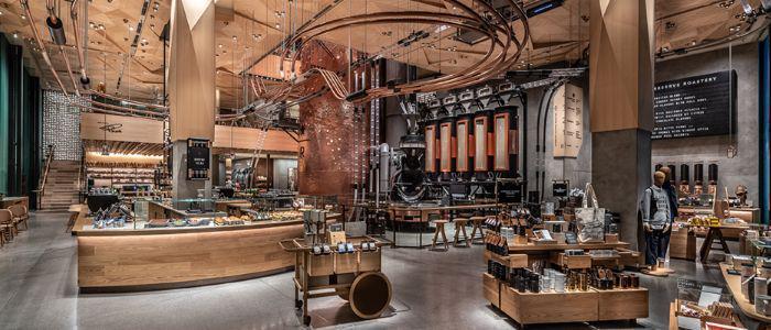 Inside of the biggest Starbucks