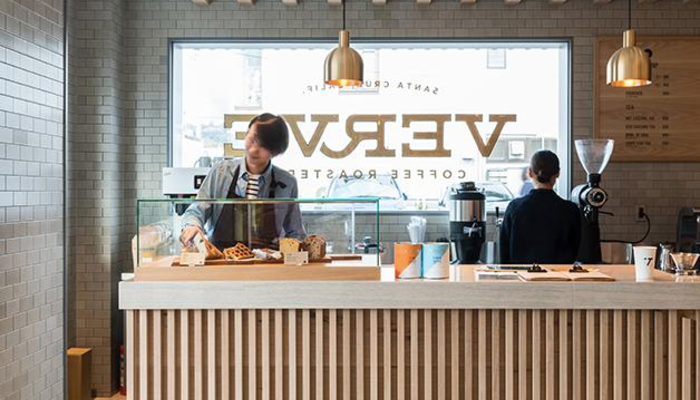 Inside of Verve Coffee