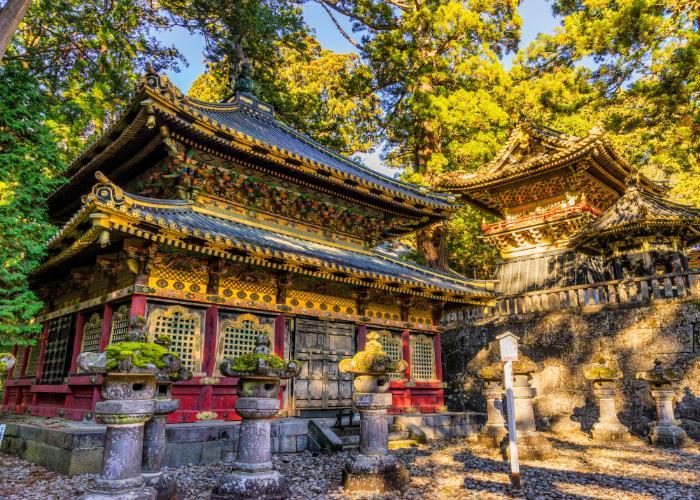 Toshogu Shrine at sunrise in Nikko, Tochigi